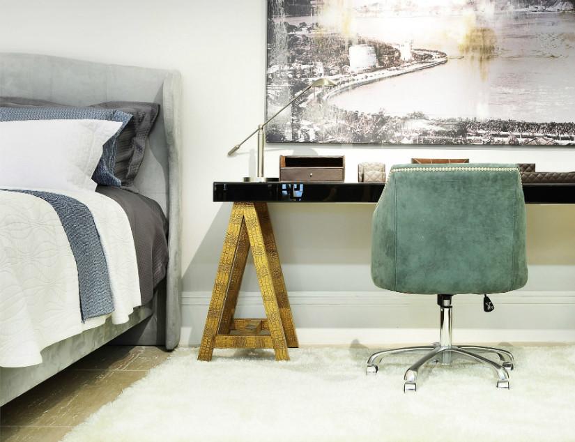 Elegante Wandgestaltung im Schlafzimmer