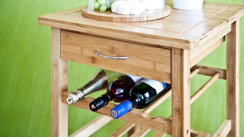 Weinregal für die Weinlagerung