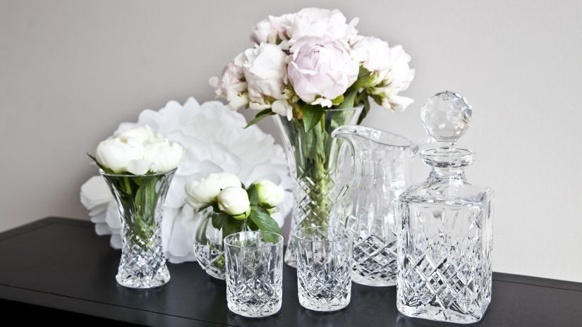 Schöne Gläser aus Kristall