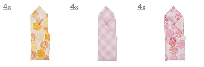 servietten falten muster