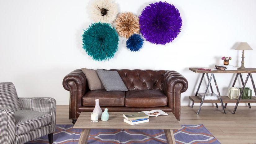 Braunes Sofa aus Leder