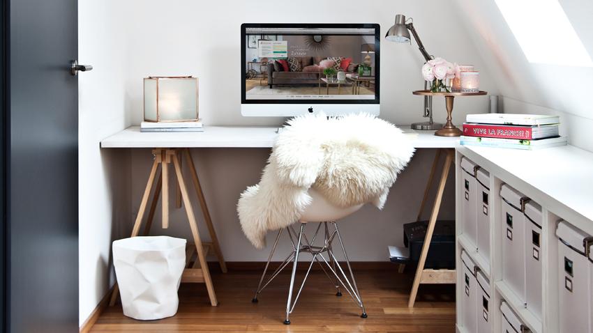 Farbgestaltung Büro in weiß