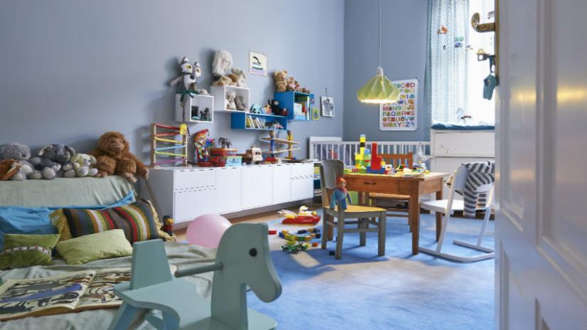 Kinderzimmer Bilder in blauem Zimmer