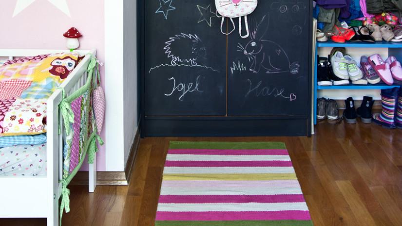 Kinderzimmer Wandgestaltung mit Kreide