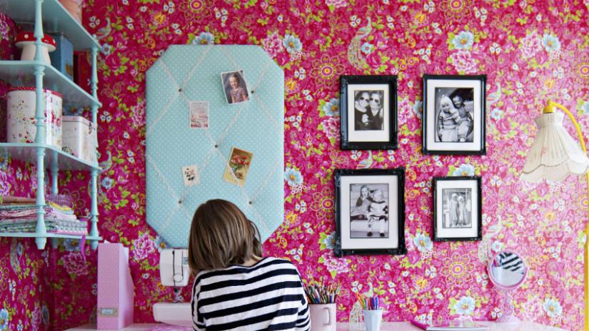 Kinderzimmer Wandgestaltung in Pink