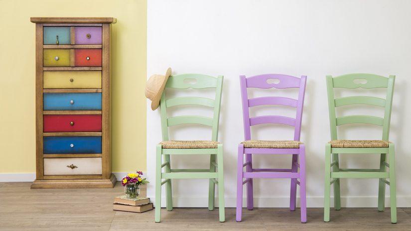 Grüne Stühle Esszimmer