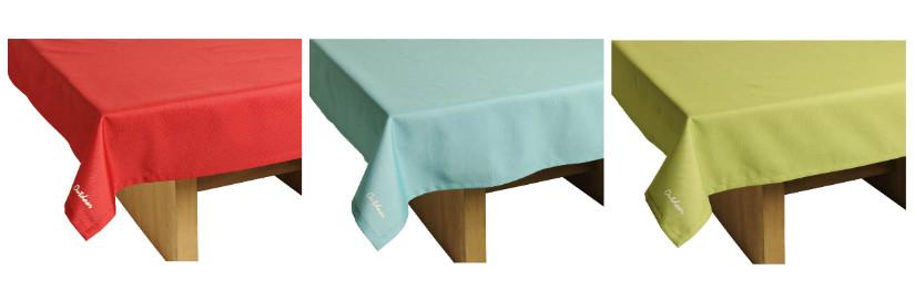 Farbige Tischdecken für die Balkon Deko