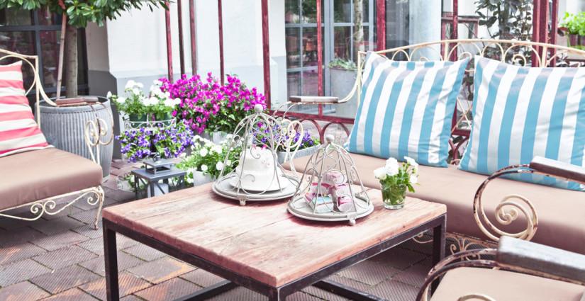 Gartenparty Deko im französischen Stil