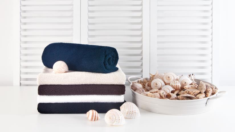 Handtücher mit maritimer Dekoration