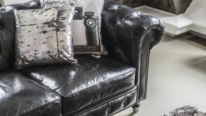 Sofa schwarz 2 sitzer
