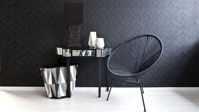 Stühle grau modern mit Tapete