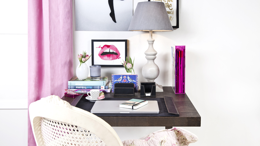 ergonomisches büro girly