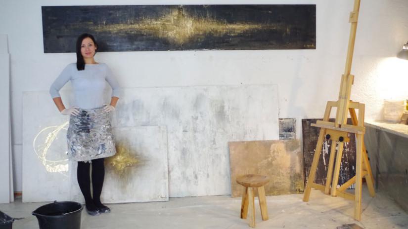 Sylwia Synak in Ihrem Atelier