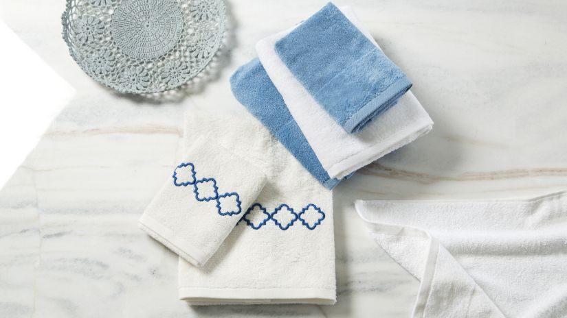 Maritime Handtücher weiß und blau