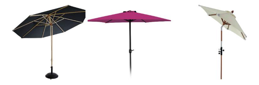 Sichtschutz Ideen mit Sonnenschirmen