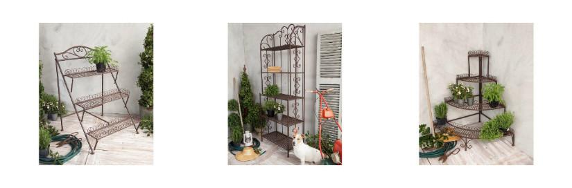 Terrasse bepflanzen und mit Wandregal ausstatten
