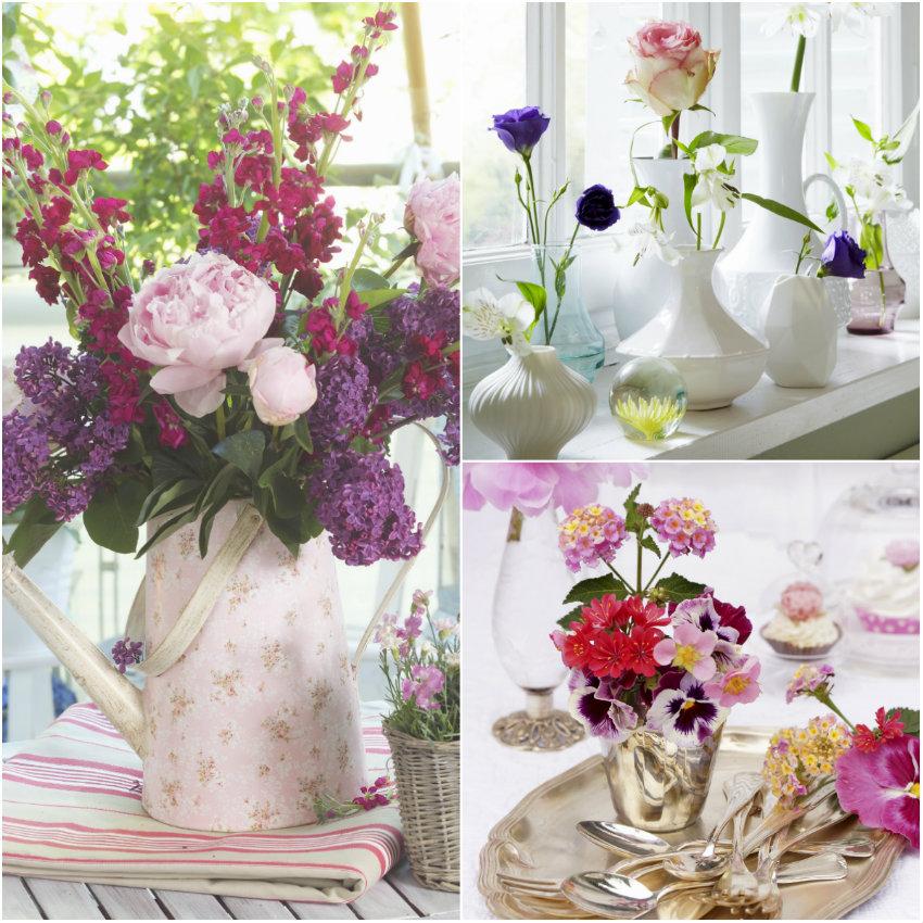 blumenvasen dekorieren floral