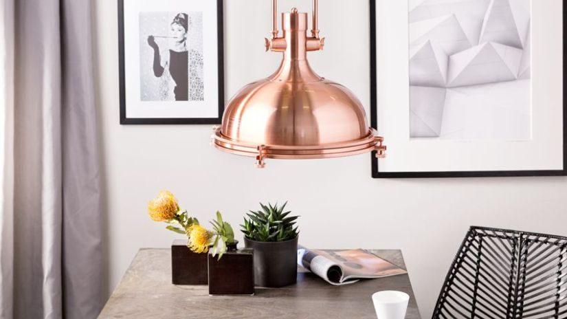 Schöne Deckenlampe Kupfer