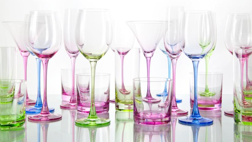 Schöne grüne Gläser