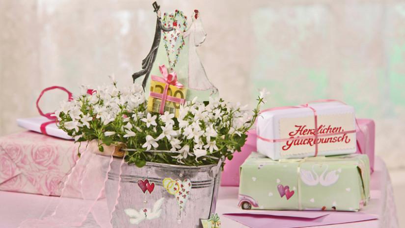 Gastgeschenke Hochzeit selber machen mit Pflanzen