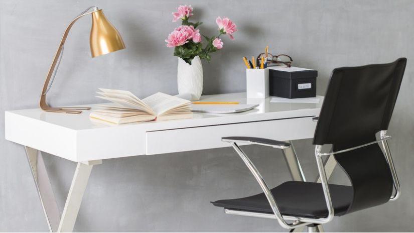 Goldene Schreibtischlampe design