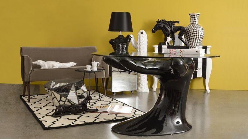 Design Tischlampe schwarz
