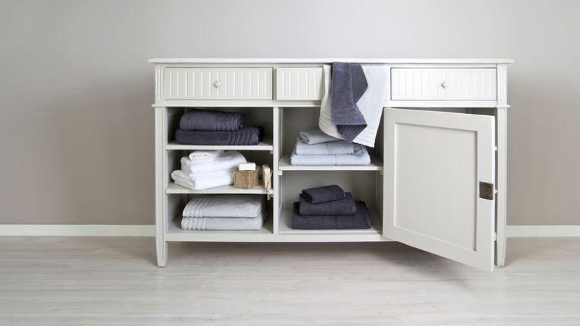 Highboard Weiß Badezimmer