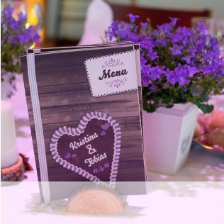 Menükarte Hochzeit