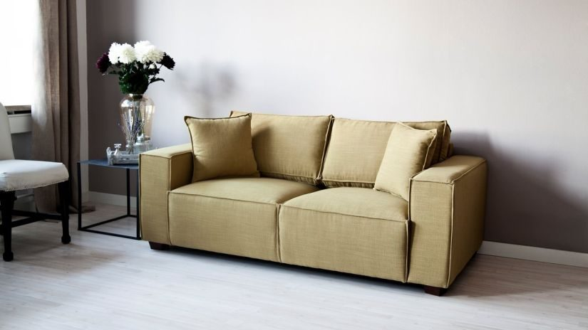 Bettsofa gelb