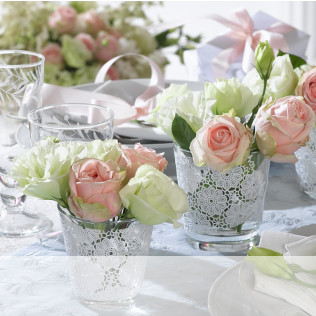Hochzeitsdeko inspirationen und ideen westwing Rosa tischdeko hochzeit