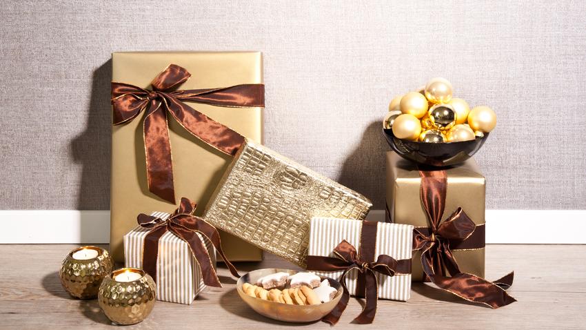 Geschenk -  Gold - Braun