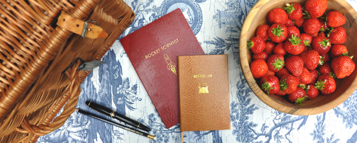 Sloane Stationery Notizbücher braun und rot