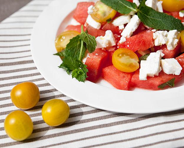 Feta-Wassermelonen-Salat