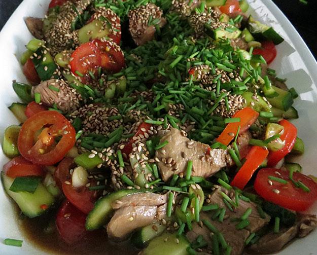 Rezept für Lammsteak-Salat