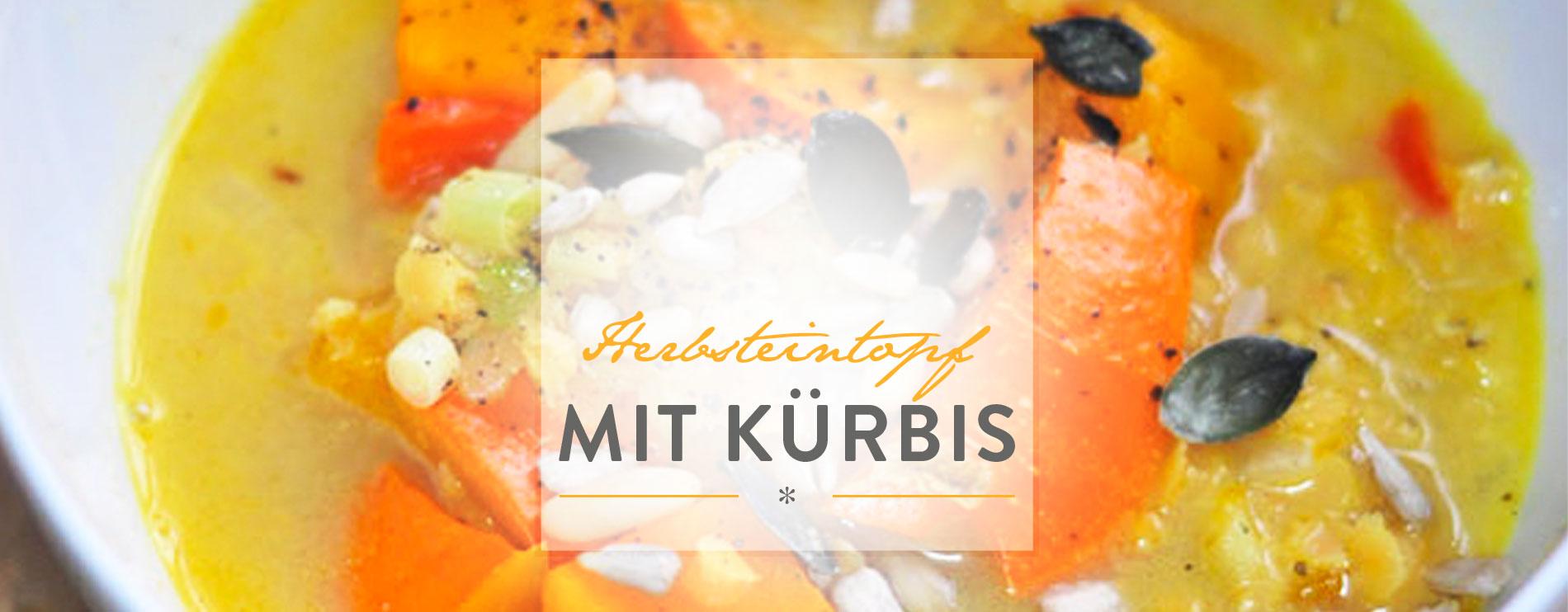 Herbsteintopf mit Kürbis
