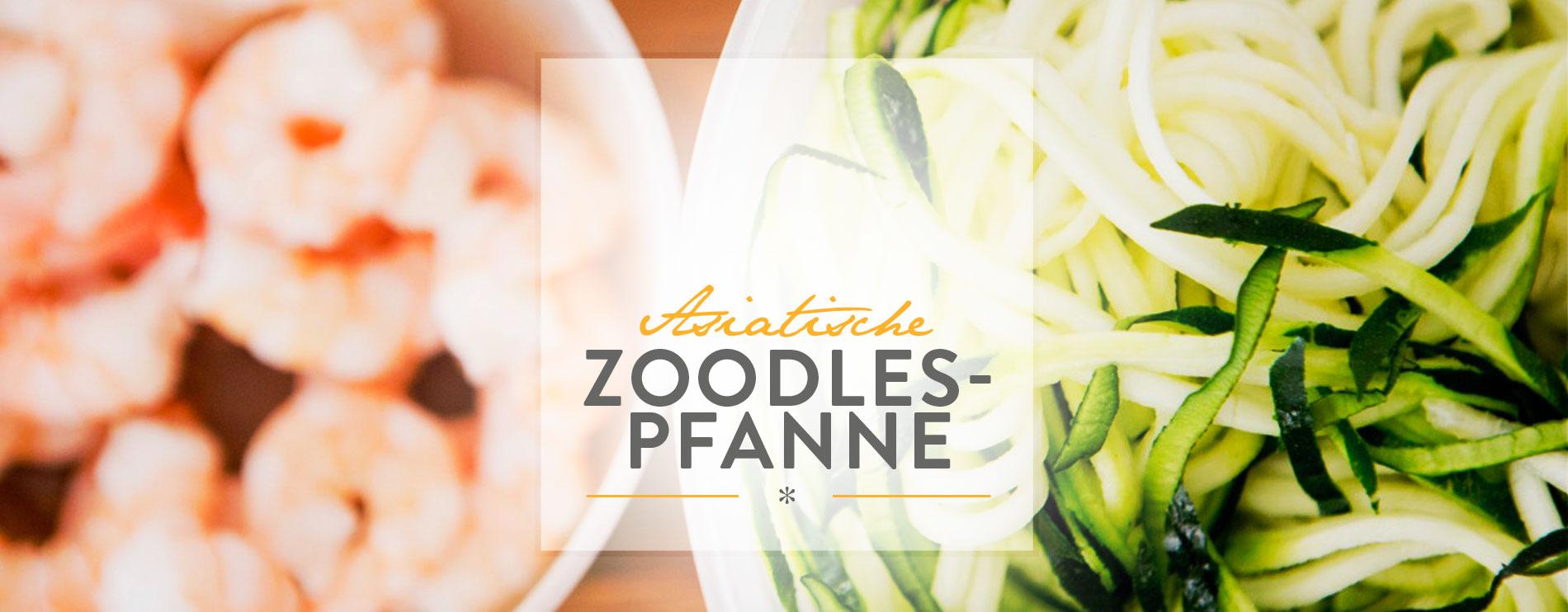 Asiatische Zoodles-Pfanne