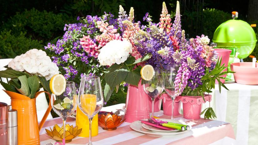 Gartentisch Deko für Garten und Outdoor