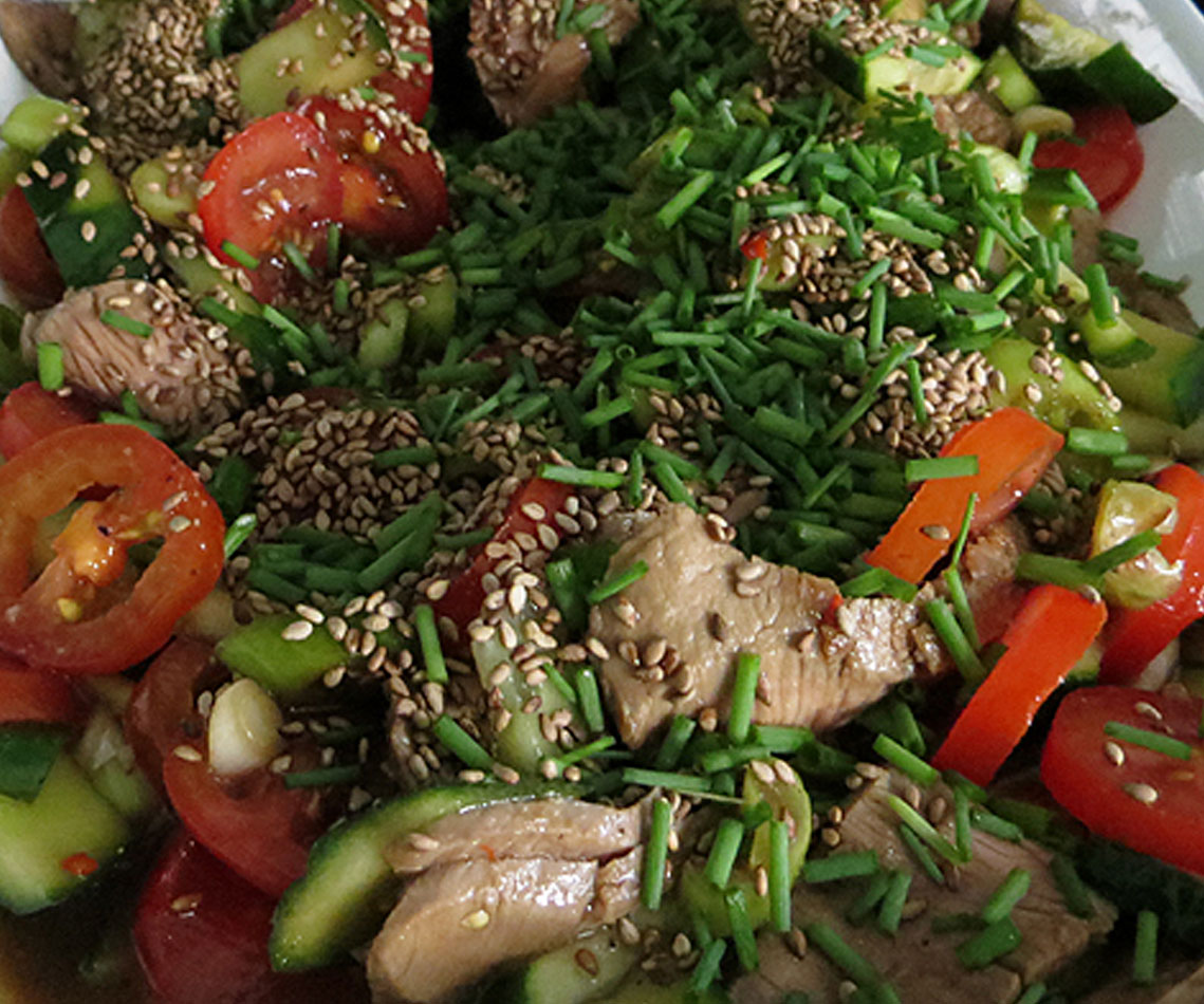 Lammsteak-Salat selber machen