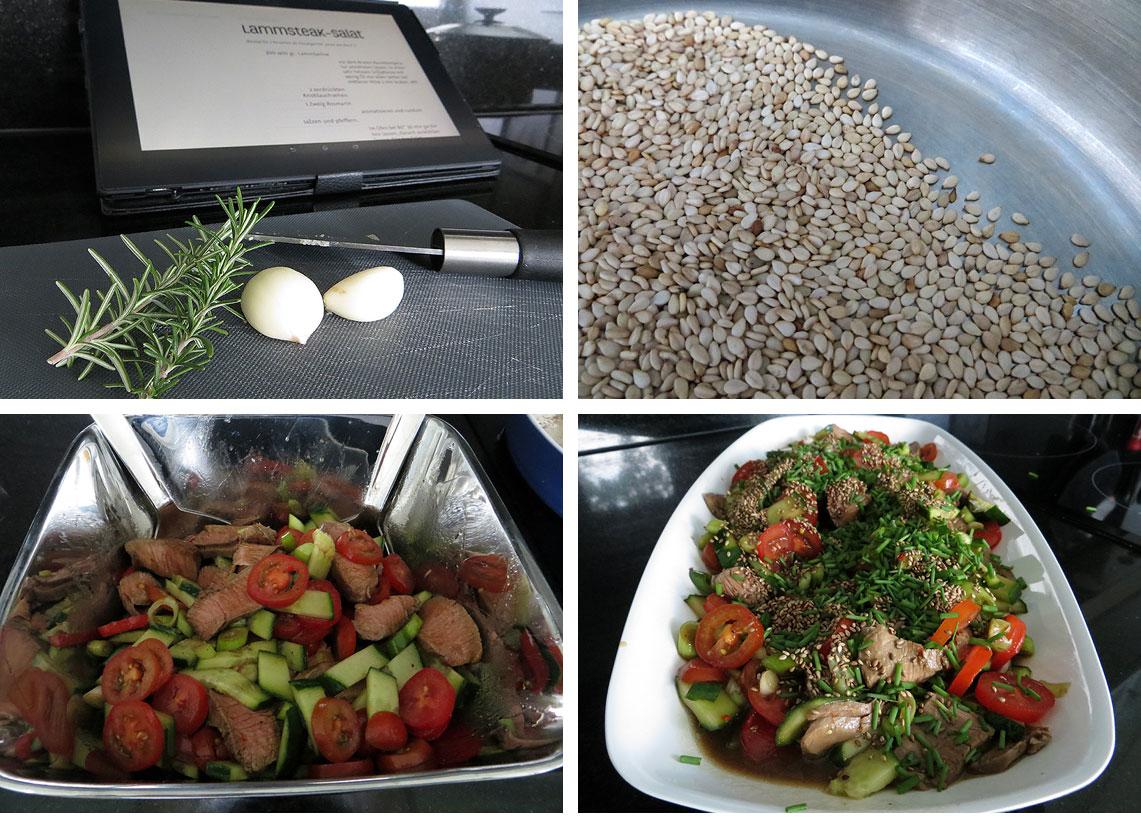 Zubereitung Lammsteak-Salat