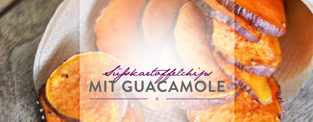 Header Süsskartoffelchips mit Guacamole