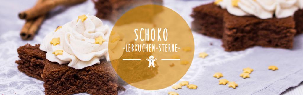 Header Schoko-Lebkuchen-Sterne mit Zimtsahne