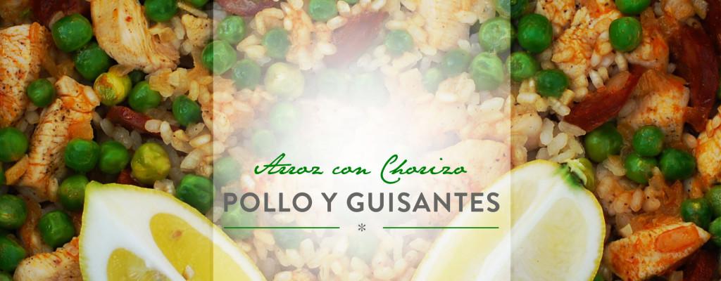 Header Arroz con Chorizo, Pollo y Guisantes