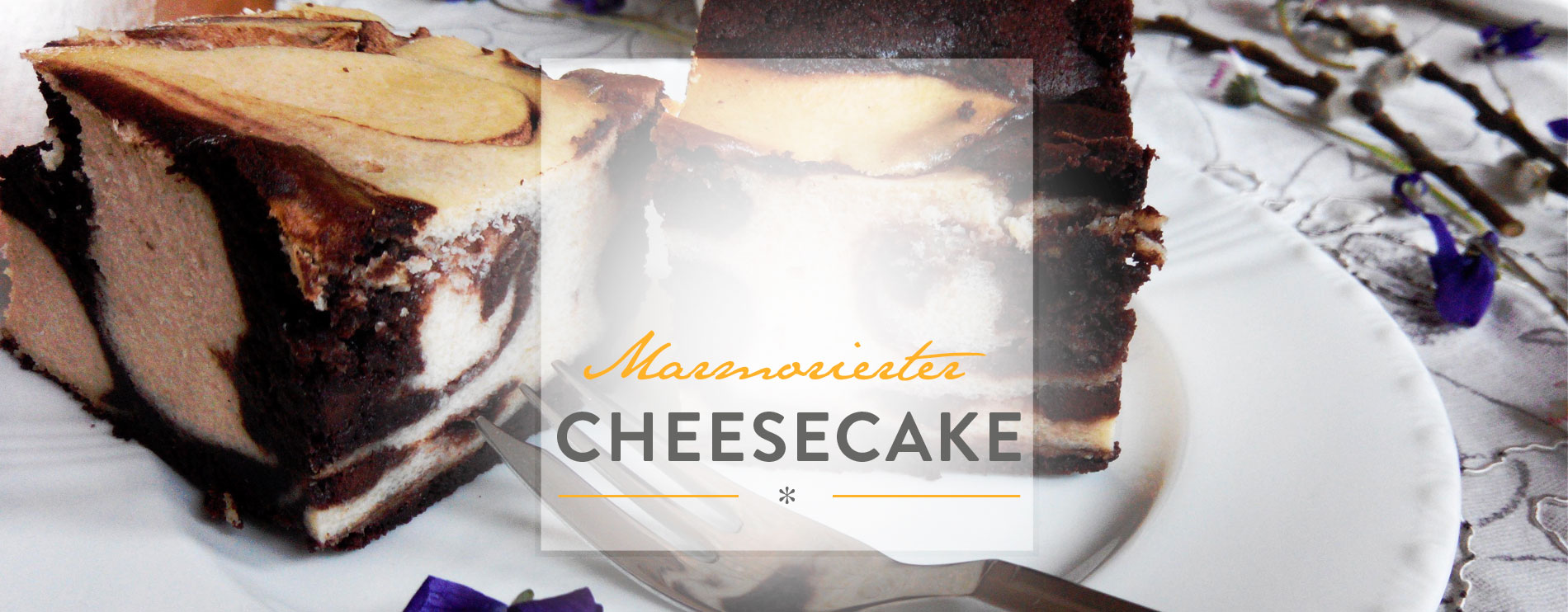 Header Marmorierter Cheesecake