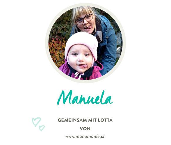 Manuela mit Lotta von www.manumanie.ch