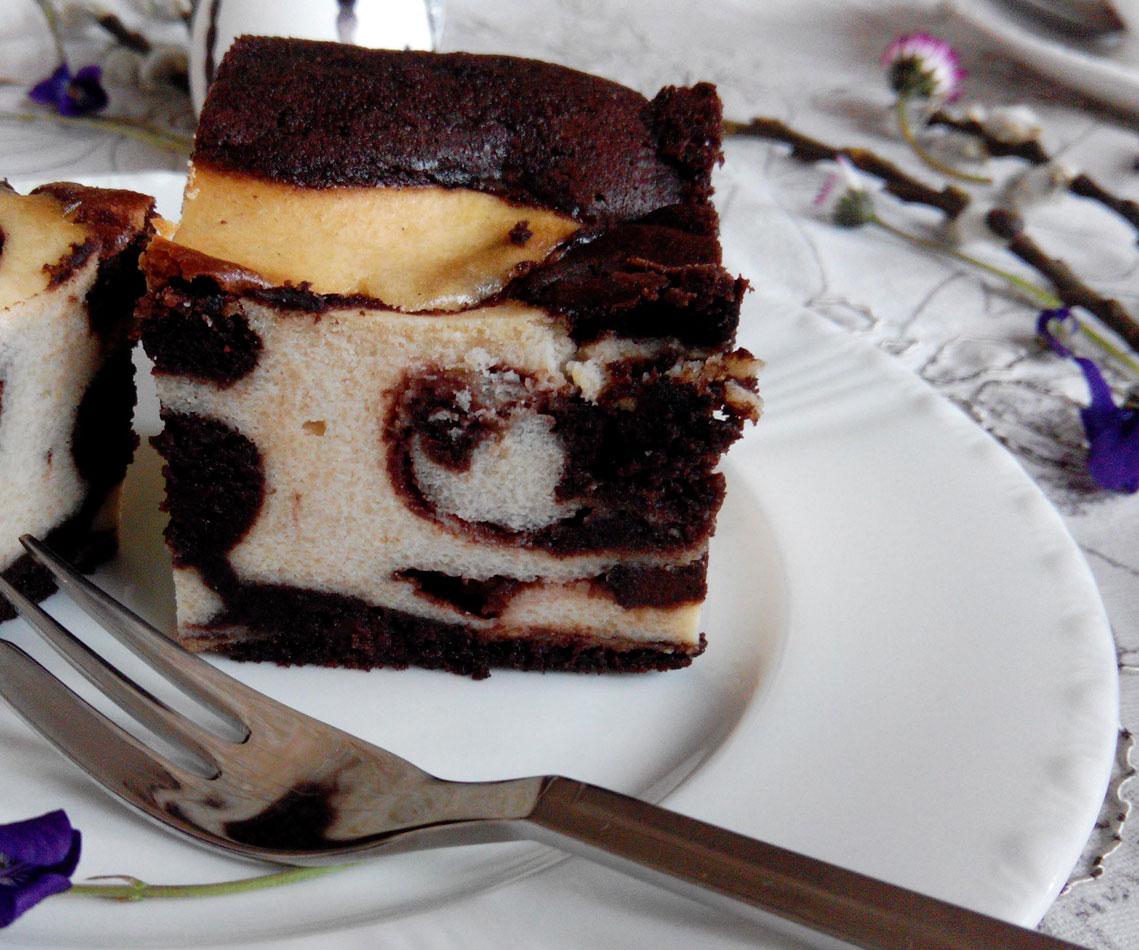 Rezept für einen Marmorierter Cheesecake