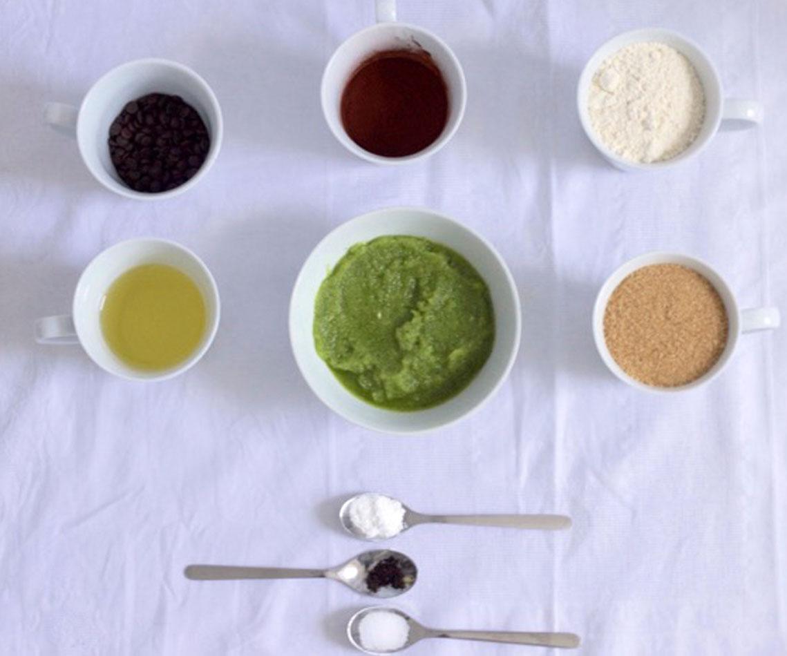 Zubereitung Vegane Zucchini Brownies