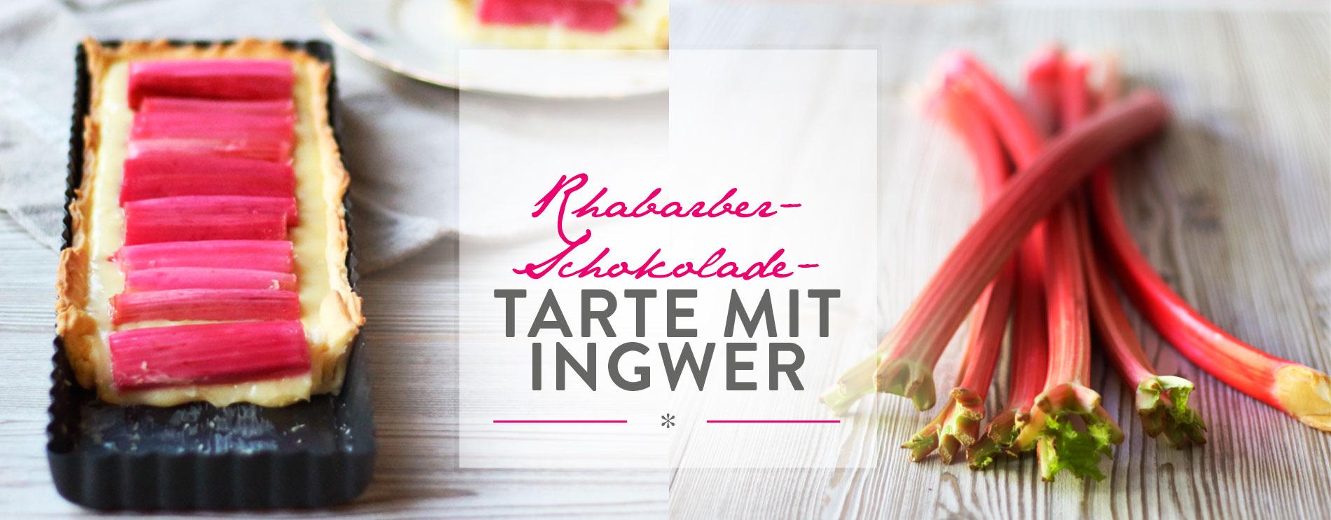 Header habarber-Schokolade-Tarte mit Ingwer