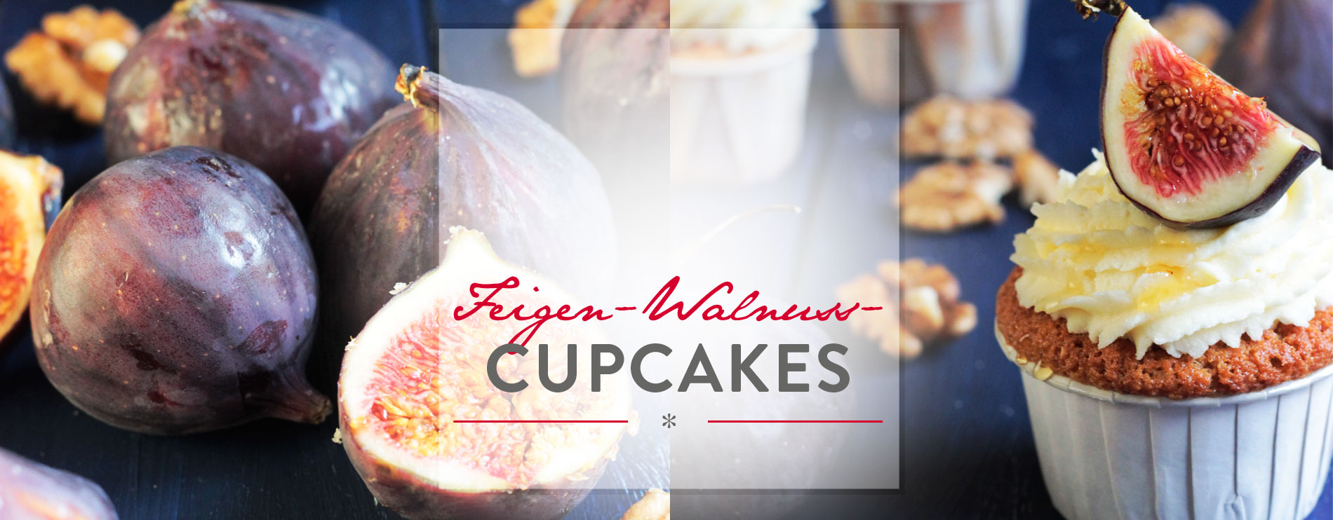 Header Feigen-Walnuss-Cupcakes mit Honig-Mascarpone-Frosting