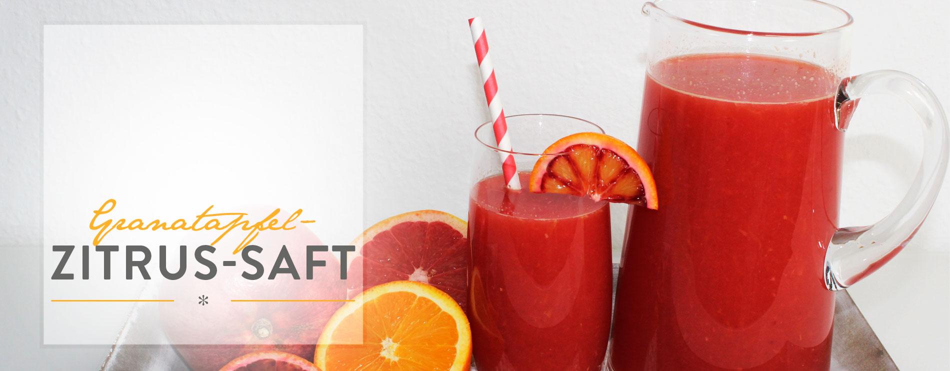 Header Granatapfel-Zitrus-Saft