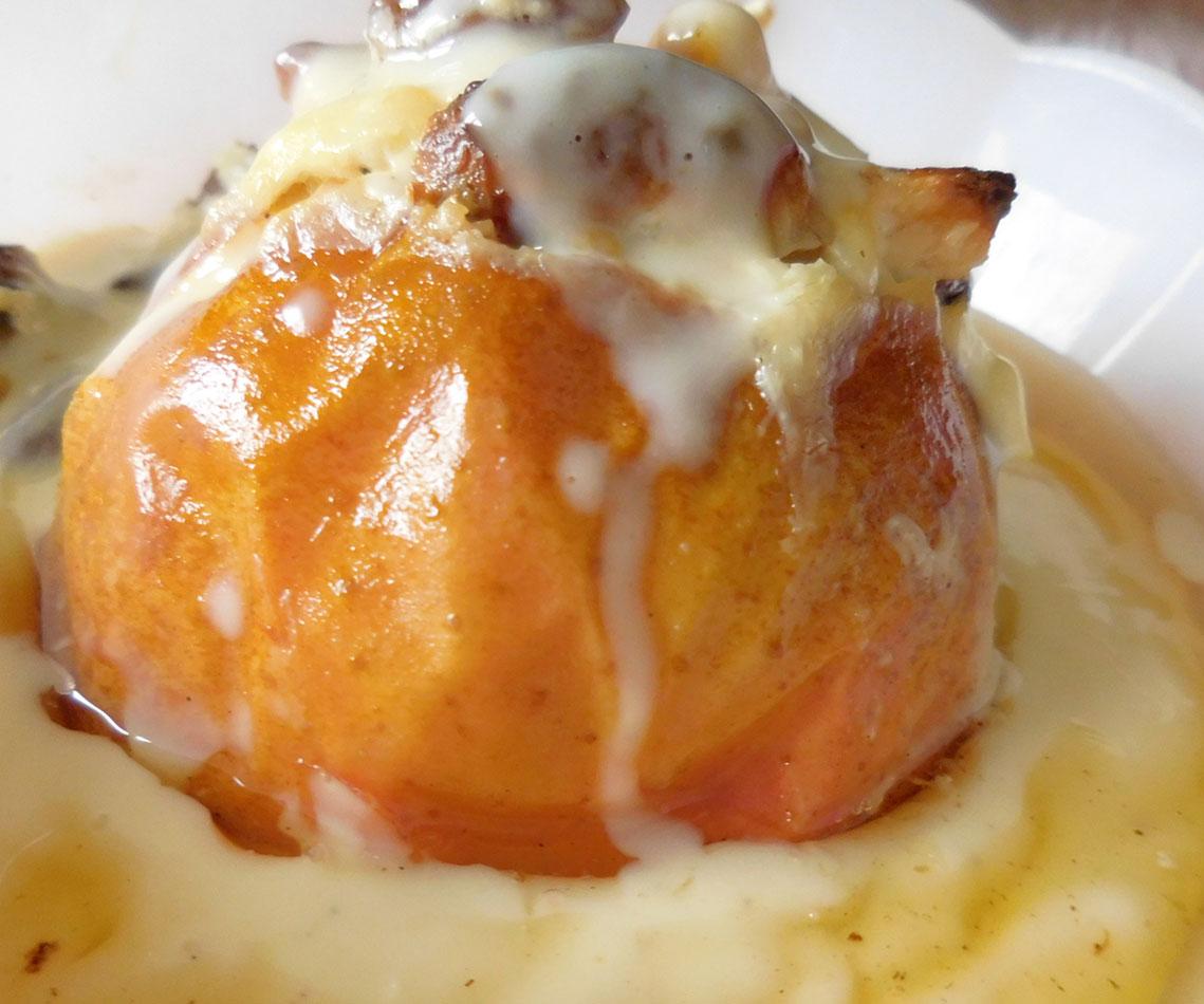 Rezept für einen Bratapfel ohne Marzipan